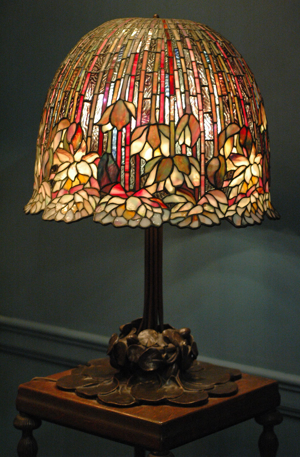 14 Patterns Of Biophilic Design Light Fixture In The Office Heres How We Did It Seven Easy A Louis Comfort Tiffany Lamp With Flower Pattern